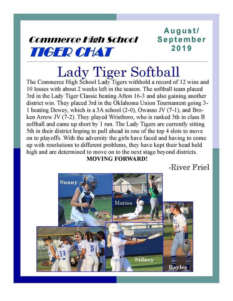 August-September 2019 Tiger Chat