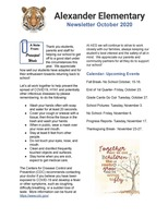 Alexander Elementary Newsletter October 2020