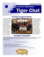 November 2019 Tiger Chat Student Newspaper