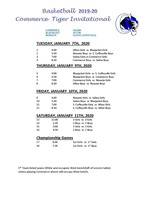 2019-2020 CHS Invitational Basketball Tournament