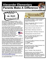 Parents Make A Difference Newsletter for November 2019