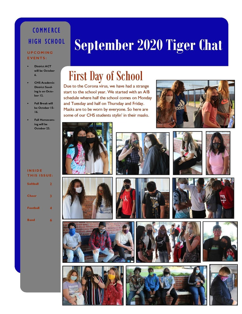 September 2020 Tiger Chat