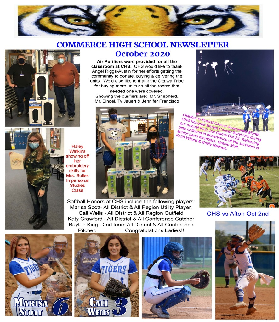 CHS Newsletter for October 2020