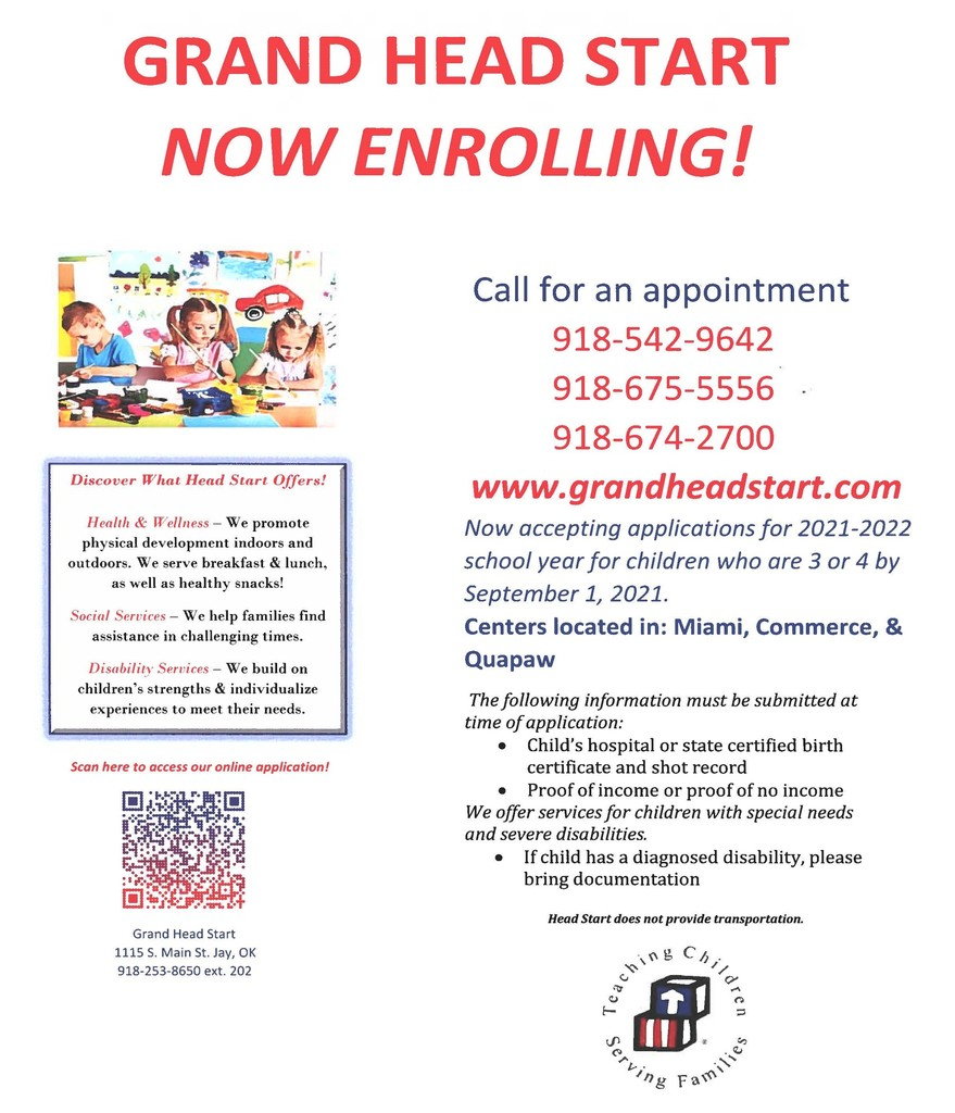 Grand Head Start Now Enrolling!