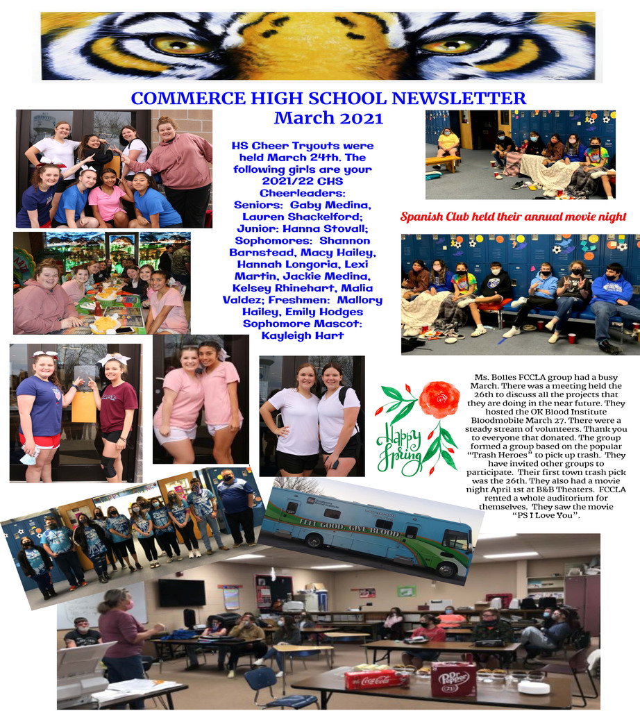 Commerce High School Newsletter March 2021