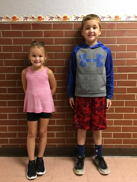 Alexander Elementary School August 2019 Students of the Month